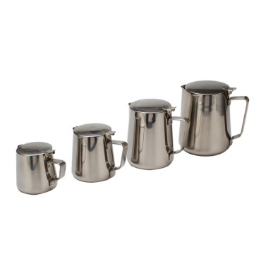 Food Grade Stainless Steel Milk Frother Pitcher-Lid
