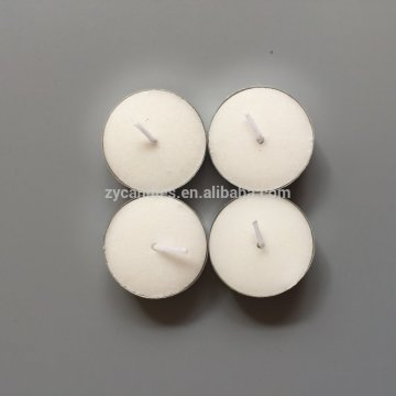 Mini Round Clear cup White Tealight Candles