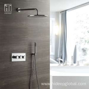 Factory directly for China Thermostatic Shower Faucet,Single Handle Thermostatic Shower Faucet,Bathroom Thermostatic Shower Faucet Supplier HIDEEP Thermostatic Rain Shower Faucet Set supply to Armenia Manufacturer