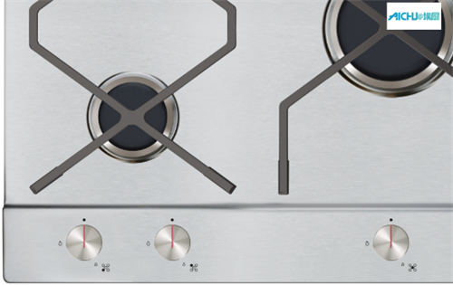 Gas Hob on A Stylish Stainless Steel