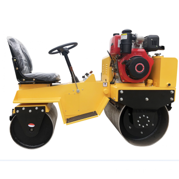 Honda engine double drum vibratory road roller SVH70