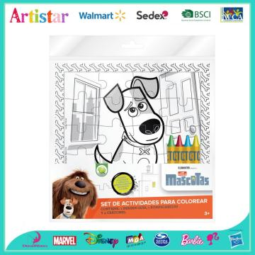 The Secret Life of Pets puzzle coloring set