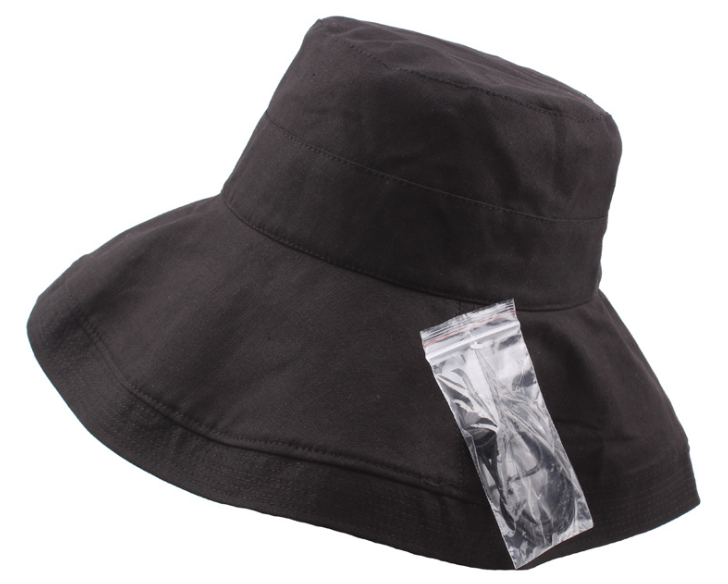 Broad Brim Bucket Hat Black