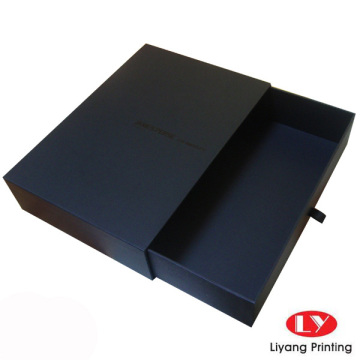 Top grade Black Paper packaging Drawer Box