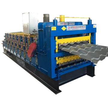 Three layer aluminium roof sheet roll forming machine