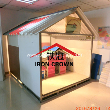MgO Prefab House System Anti-corrosion Insulating Roof Tile
