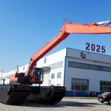 Amphibious excavator with side pontoons Sale