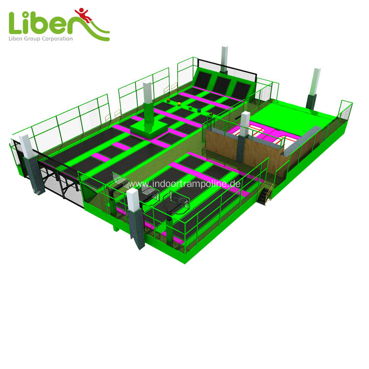 High quality customized indoor big trampoline park