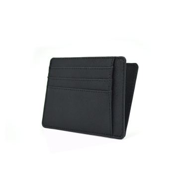 Custom Printed Slim Saffiano Genuine Leather Cardholder