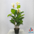 Artificial Flower and Leaves Potted plant