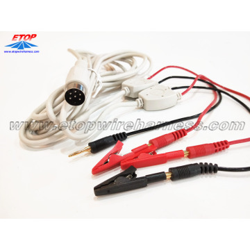 Wholesale Price for China Medical Wire Assemblies,Medical Alligator Clip Cable,Medical Diagnostic Cable Manufacturer medical alligator clip to DIN and male banana plug supply to Portugal Suppliers