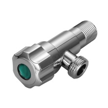 Zinc Handle Brass Body Chrome Angle Valve