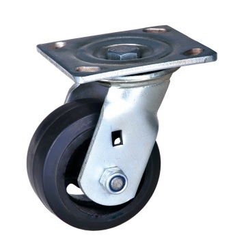 6'' Heavy duty casters mold on rubber wheels