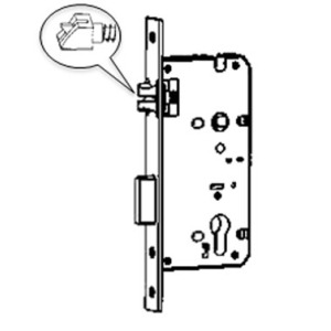 3point Latch bolt and dead bolt mortise lock
