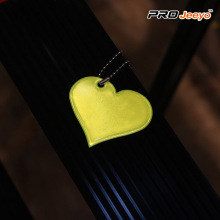 Yellow Heart Shape Love PVC Pendant