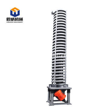 high efficient fruit lifting vibrating spiral elevator