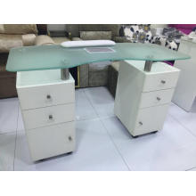 Modern nail salon manicure table with fan