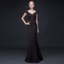 nightclub women's clothes 2016 new black body show thin long evening dress stage walk show annual meeting car model