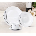 16 Piece Porcelain Dinner Set Fine Lines