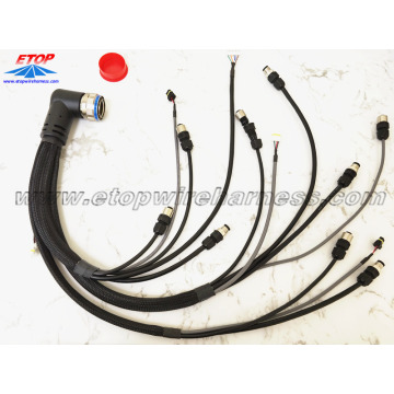 China for China Molded Waterproofing Cable Assemblies,Waterproof Wire Harness Manufacturer and Supplier Complicated wire assembly for military vehicles export to South Korea Importers