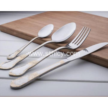 Gold Stainless Steel Spoons and Forks
