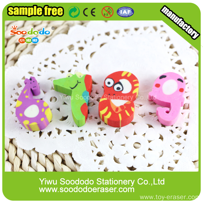 animal surface ,number shape  promotion extruded stationery