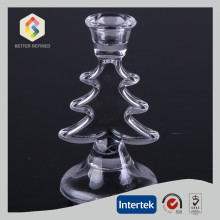 Crystal Christmas Taper Candle Holder