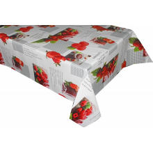 Elegant Tablecloth with Non woven backing Purple Vinyl