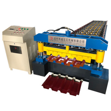 Automatic trapezoidal roof tile roll forming machine
