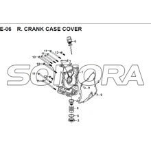 E-06 R. CRANK CASE COVER JET 14 XS175T-2 For SYM Spare Part Top Quality