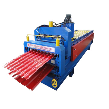 Nigeria Popular Machine Glazed Tile Double Deck Machine