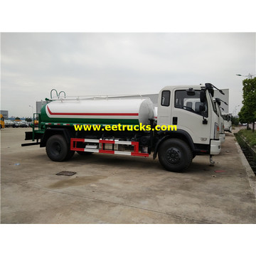 1500 Gallons 6MT Water Spray Tank Vehicles