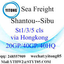 International Shiping Container From Shantou to Sibu