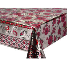 Double Face Emboss printed Gold Silver Tablecloth Jysk
