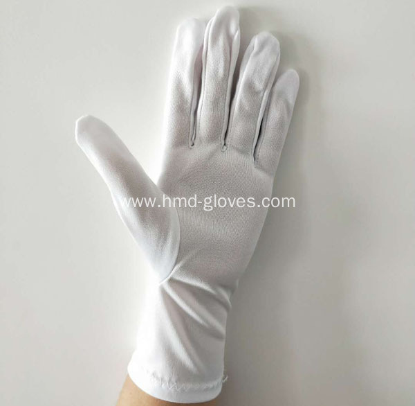 White Polyester Gloves for Marching Band