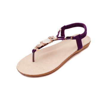 Women's Non-slip Beach Clip-toe Flat Sandals