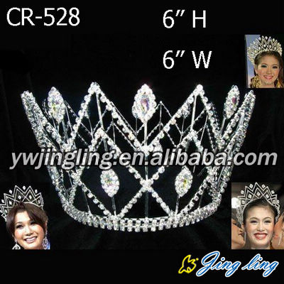 Full Round Beauty Queen Crown