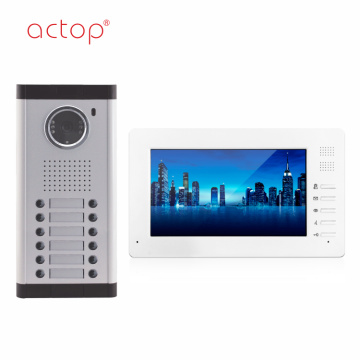 Wired Video Door Phone System 7 Inch Color