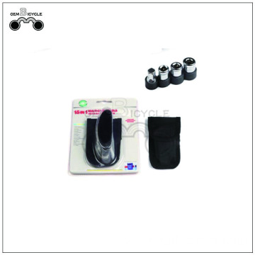 Multi used bicycle tools with nylon pouch