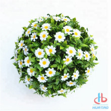 Artificial White Flower Plant Ball