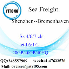Shenzhen Port Sea Freight Shipping To Bremenhaven