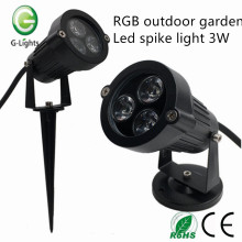 RGB outdoor garden led spike light 3W