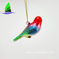hand blown glass Christmas colorful bird ornament