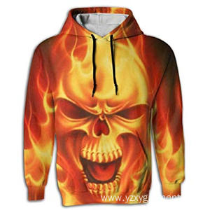 Hot sale for Digital Printing T-Shirt Evil human bone print hoodie supply to Vanuatu Factories