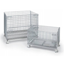 Stackable Large Galvanized Wire Mesh Container