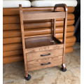 salon wooden trolley with drawers