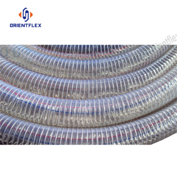 Flexible steel wire reinforced spring pvc hose pipe