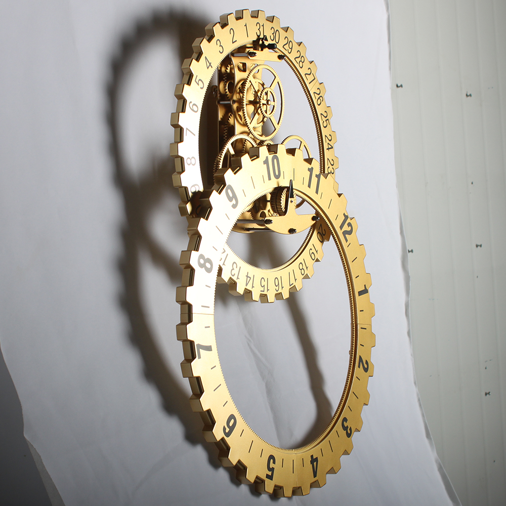 modern gear wall clock