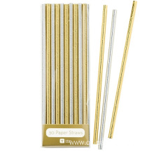 Gold paper straws for sales