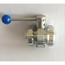 Sanitary Threaded Butterfly Valve with Union